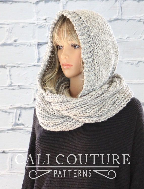 Knitting Pattern Hooded Scarf
