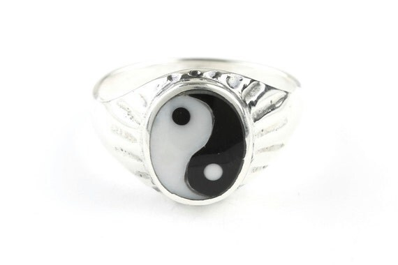 Yin Yang Ring, Sterling Silver Ring, 925, Balance, Boho, Gypsy, Festival Jewelry, Hippie Jewelry, Spiritual, Meditation