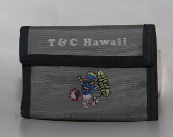 Town and Country Hawaii T&C Vintage 80s Velcro Wallet Women Men Surfing Surf Beach Beachware Lifeguard Wallet