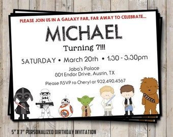 Star Wars Birthday Invitation Personalized For Your Party - Star wars birthday invitation diy