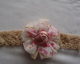 Headband, Flowers, Mauve Rose