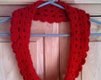 Hand made crocheted infinity scarf