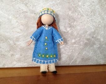 Big Sister Fannie - Pocket Doll - Bendy Doll