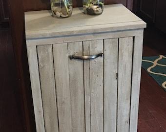 Wooden Trash Bin / Tilt Out / Gift / Housewarming Gift/ Custom / Laundry Room /