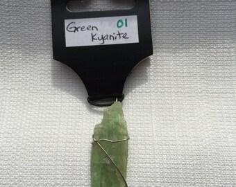 Kyanite, Green Necklace - 01