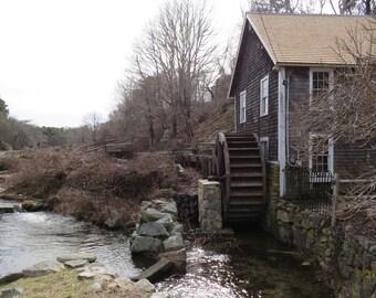Mill - Water Mill - Mill Photo - Water Mill Photo - Autumn - Village - Digital Photo - Digital Download - Instant Download - Home Decor