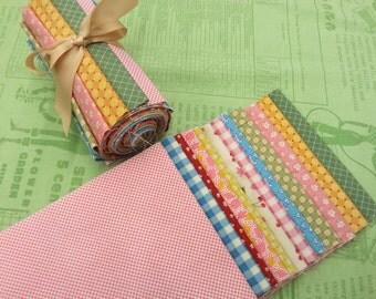 Twelve Piece, Six Inch Strip fabric bundle - 30's style reproduction fabrics