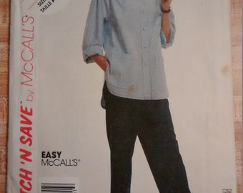 McCalls Stitch 'N Save 3970 Sewing Pattern Misses' Shirt and Pants Size A 14-16-18