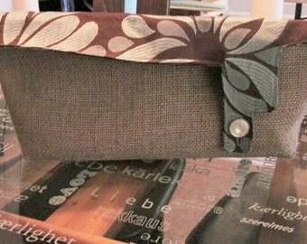 Handmade Burlap Custom Purses / Handbags / Clutches
