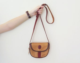 Vintage 1980s Baccio Brown Leather Sling Bag