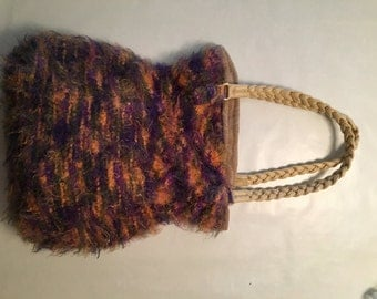Handmade Purple and Orange Handbag