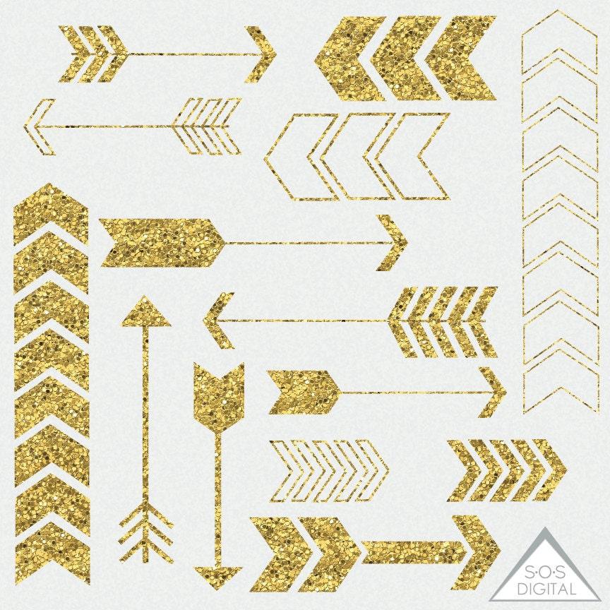 Gold Glitter Arrow Clipart Clipart Arrows Basic Arrows
