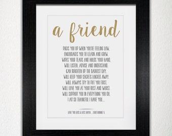 Framed Personalised Friend Poem Print   Sister Poem Print   Mum Poem Print   Family Poem Print   Friendship Poem Print   Special Poem Print