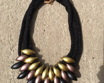 Multi-Layer Necklace, Bib Necklace, Statement Necklace, Exotic Necklace, Big Bold Chunky Necklaces