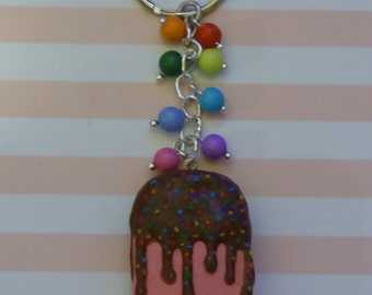 Pink Ice Lolly Keyring