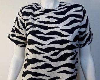 Vintage 1980s Silk Blouse