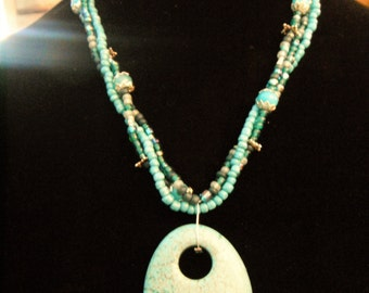 Beautiful Turquoise Mulit-strand Necklace