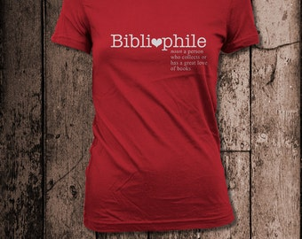 Bibliophile | Women's Tee | Perfect for a book lover