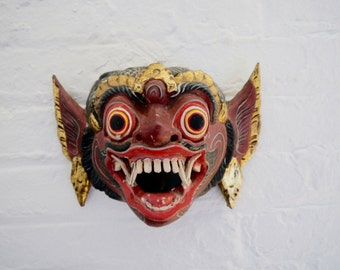 Vintage wood Asian Monkey Mask