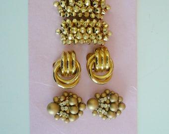 Shoe Clips Repurpose Shoe Clip Gold Bronze Rhinestones Shoe clip