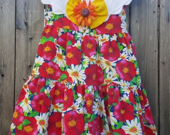 Vintage 1990's Sleeveless Dress Girls Size 4T