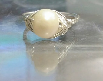 Fresh Water Pearl Solitaire ring