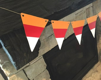 Halloween Candy Corn DIY Banner Fall Decorations Fall Banner