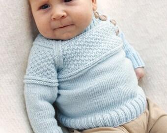 knitted BABY SWEATER SWEATER baby sweater knit sweater Merino in desired color