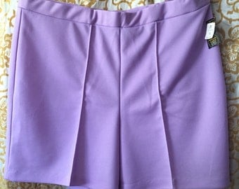 Vintage 60s Lucky Britches Size 38 Lilac Boating Shorts New With Tags Non Curl Elastic