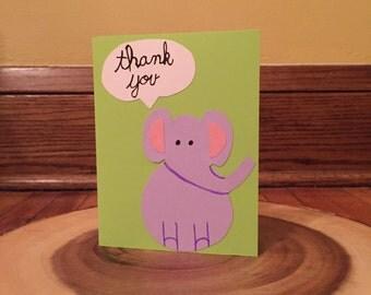 Thank you animal - elephant - set of 6