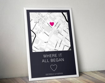 Personalised Where It All Began Map Print