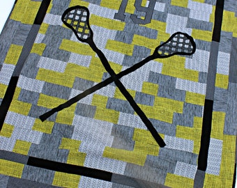 Personalized Lacrosse Quilt, Made To Order Quilt, Lacrosse Quilt