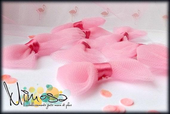 Boucles décoratives, boucles de tulle, embellissement de scrapbooking, carterie, noeud décoratif