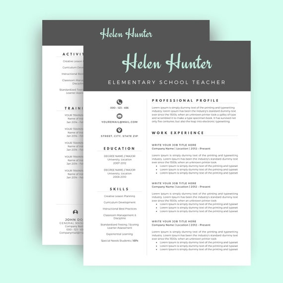 Matching Resume, Cover Letter, Job Reference Page Samples