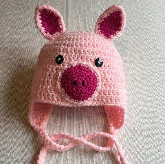 Free Crochet Pattern Pig Hat ~ Dancox for .
