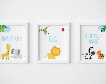 Printable Nursery Wall Art Baby - Safari, Baby Animals  - WCH002