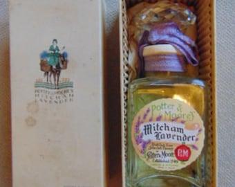 "VINTAGE c1920s-30s Potter & Moore ""Mitcham Lavender"" Perfume Bottle"