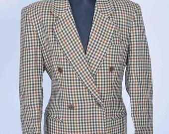 Dinomoda Country Double Breasted Jacket Euro Size 40 Retro Vintage