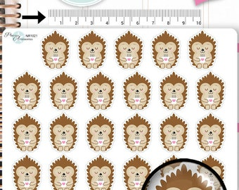 Hedgehog Stickers Coffe Stickers Lazy Day Stickers Coffee Stickers Planner Stickers Erin Condren Functional Stickers NR1021