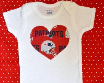 New England Patriots Heart Onesie