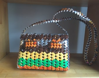 Crossbody Purse made from Recycled Wrappers