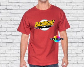 Bazinga - Nerds Big Bang Theory Bazinga Tshirt Sheldon Funny T-shirts Silly Bazinga Shirts TV Show Mens T-shirts Womens Tshirt Shirt