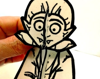 Dracula Vampire Monster Paper Figure - Printable Toy