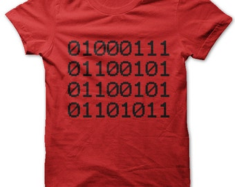 Geek in Binary Code t-shirt