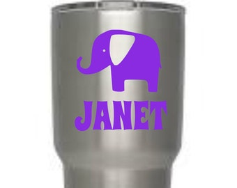 Elephant Decal, Vinyl Decal, Yeti Decal, Personalized, Tumbler Decal, gifts for women, gifts for girls, laptop, tablet,