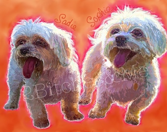 A Colorful Portrait of Your Special Pets