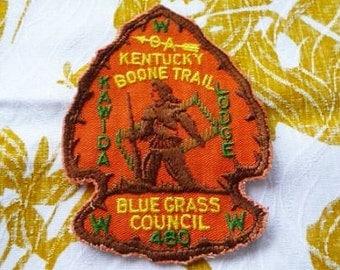 OA - Order of the Arrow Kawida Lodge 480 Blue Grass Council Kentucky Boone Trail Arrowhead Patch