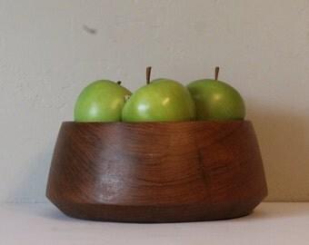 Vintage Teak Bowl, Wooden Teak Salad Bowl, Vintage Salad Bowl, Kalmar Teak Wooden Bowl, Mid Century Teak Bowl, Vintage Bowl