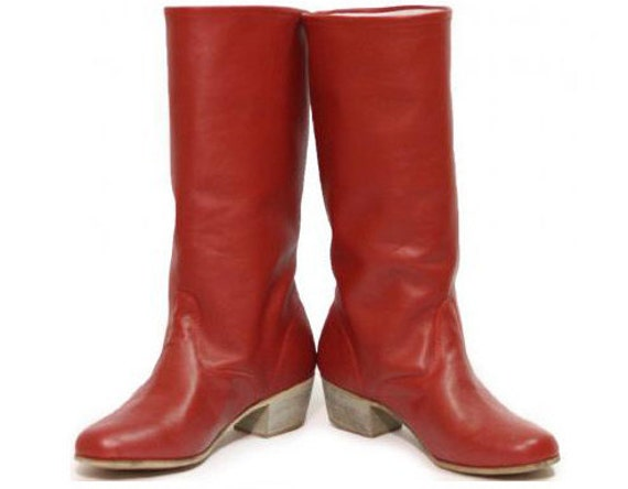 Woman Russian Dance Hight Boots, Cossack boots, Leather woman boots, Red woman boots, White woman boots