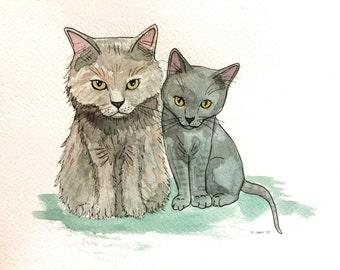 Custom Pet Portrait - Watercolor/Gouache Paint